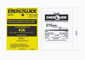 Picture of WPVA138 Energy Guide Tags 5 Cubic Ft.