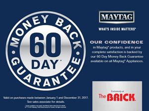 Picture of WPMA1110 MAYTAG The Brick 60 Day Money Back Guarantee Laundry Cling Eng